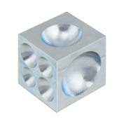 Steel Dapping Doming Block - 18 Half-Spheres 4mm to 34mm - Jewellery Making Metal Forming