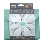 BEADSMITH 8 FASHION-LIGHT BLUE TOOL SET for MAKING jewellery with COORDINATED CLUTCH CARRY CASE