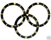 12 Bezel Insert for Rolex Submariner 16800 Black Gold Font