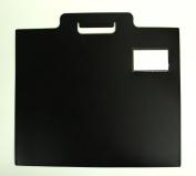 Black Poly Art Portfolio with Stitched Edges 46cm x 38cm , Moisture Resistant