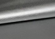 "Peel & Stick 3D Carbon Fibre Fabric - Not vinyl [Silver : 50cm(19.68"") X 140cm(55.11"")] Super Flexible Self-adhesive Fabric - Made in Korea - Ship by Pantos Express."