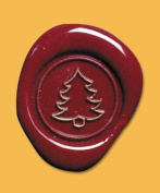 J. Herbin H404/32 XMAS Tree Brass Seal 1.7cm D For Use With Sealing Wax