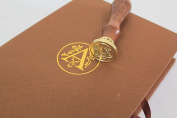 The important letter! Sealing wax stamp set fancy letter alphabet initial sealing wax - A sky edge Corps]