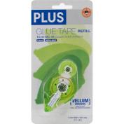 Plus Permanent Vellum Glue Tape Refill-.80cm X52.5', For Use In 610BCVE