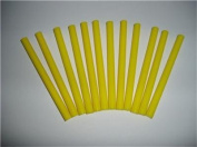 Yellow Faux Wax Glue Stick mini X 10cm 12 sticks