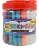 Glitter Glue Pens- Bonus Bucket Set of 50