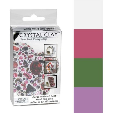 Crystal Clay 2-Part Epoxy Clay Kit - Springtime Colour Mix 100g