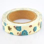 Lychee Craft Cloud Flower Fabric Washi Tape Decorative DIY Tape