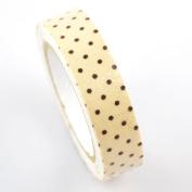 Lychee Craft Coffee Dot Fabric Washi Tape Decorative DIY Tape