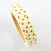 Lychee Craft White Stars Dot Fabric Washi Tape Decorative DIY Tape