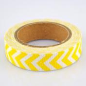 Lychee Craft Yellow Chevron Fabric Washi Tape Decorative DIY Tape
