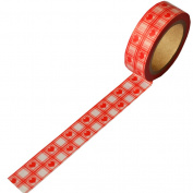 New Japanese Craft Paper Decor Red Love Heart Grid Washi Tape