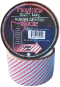 Fashion Mode Brand Candy Cane Printed Duct Tape, 5.1cm by 10 Feet, Single Roll