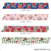 Japanese Washi Masking Tape - Maste Mini Blue Floral Print Single Roll