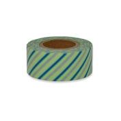 Japanese Washi Masking Tape - Maste Mini Diagonal Stripe Mint Single Roll