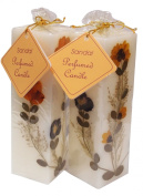 Auroshikha Sandal Natural Flowers Candle