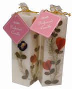 Auroshikha Rose Natural Flowers Candle