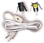 Lamp Cord Has Clip-in Candelabra Socket, Rotary Switch And Moulded End Plug. 6 Ft. White