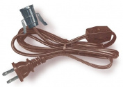 Lamp Cord Has Clip-in Candelabra Socket, Rotary Switch And Moulded End Plug. 6 Ft. Brown