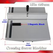 Manual 46cm Scoring Paper Photo Creasing Machine Scorer Creaser +2 Magnetic Block