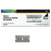 Pacific Handy Standard Single-Edged Industrial Razor Blades, Box Of 100