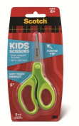 Scotch Kids Pointed Tip Scissors with Soft Touch, Green, 13cm