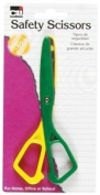 Charles Leonard Scissors - Safety - Plastic - 14cm - Assorted Colours - 1/Card, 80512