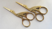 2 Stork Embroidery Sewing Scissors