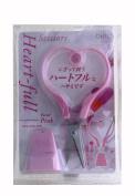 OHTO - Heart-Full Scissors - Pastel Pink W/Stand