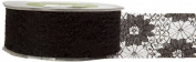 May Arts 3.8cm Wide Ribbon, Black Lace