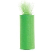 Apple Green 15cm X 75 Ft (25 Yards) Tulle 100% Nylon