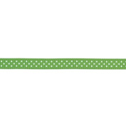 American Crafts - Grosgrain With Dots Ribbon .950cm 5 Yards With White