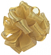 Offray Woven Metallic Ribbon, 2.2cm Wide by 10-Yard Spool, Gold