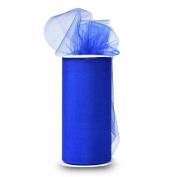 Expo Shiny Tulle Spool of 25-Yard, Royal Blue