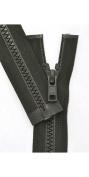 Vislon Zipper, YKK #5 Moulded Plastic Separating Bottom - Medium Weight