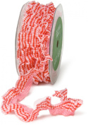 May Arts 1.9cm Wide Ribbon, Red Plaid Ruffle