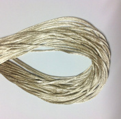 """25 Yards(75feet) - 2mm(1/13"""") Toffee/Tan Satin Rattail Cord Chinese/china Knot Rat Tail Jewellery Braid 100% Polyester"""