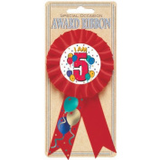 i am 5 award ribbon