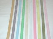 Solid Colour Satin Ribbon Asst. #1 - 10 Colours 1cm X 5 Yard Each Total 50 Yds Per Package