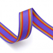 Grosgrain Stripe Ribbon 2.2cm Purple, Orange and Old Yellow 10 Yards
