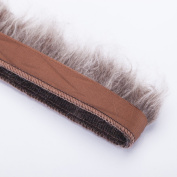 Neotrims Fake Faux Two-Tone Fur Woolly Fringe, Fleecy Thick Pile Trim on Satin Ribbon, For Costume, Crafts, Decoration. Easy to attach and sew on anything with Satin Ribbon Edge.