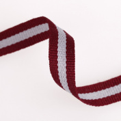 Neotrims Striped Grosgrain Tape Sports Jersey Trimming Ribbon Cotton Rich 10mm. Comes in 2 Colour Combos