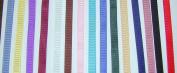 Solid Colour Grosgrain Ribbon Asst. #1 - 15 Colours 1cm X 2 Yard Each Total 30 Yds Per Package