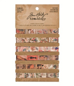 Seasonal Trimmings by Tim Holtz Idea-ology, 1cm x 1 Yard of Each Design, 6 Designs, Fabric, Multicoloured, TH93023