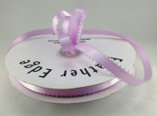 1cm Lavender Double Faced Satin Ribbon with PICOT Feather Edge 50 Yard Spool 100% Polyester