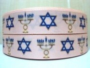 5 yards 7/8 Hannukah Grosgrain Ribbon