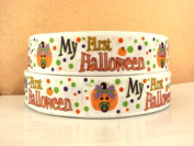 5 yards 2.5cm My First Halloween Grosgrain Ribbon