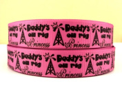 5 yards 7/8 Daddy's Oil Rig Princess Grosgrain Ribbon