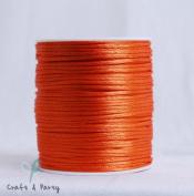 Orange 2mm x 100 yards Rattail Satin Nylon Trim Cord Chinese Knot