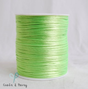 Apple Green 2mm x 100 yards Rattail Satin Nylon Trim Cord Chinese Knot